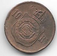 *brazil 10 Reis 1869  Km 473  Vf - Brésil