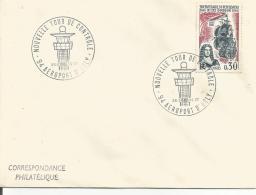 OBLITERATION COMMEMORATIVE NOUVELLE TOUR DE CONTROLE AEROPORT D'ORLY 1966 - Postmark Collection (Covers)