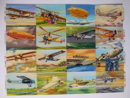 SCRAPS MLP 1216 Planes Aircraft Big  Mamelok Vintage Sheet Decoupis Oblaten Decoupage Glanzbilder - Scrapbooking