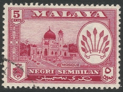 Negri Sembilan (Malaysia). 1957-63 Arms. 5c Used SG 71 - Negri Sembilan
