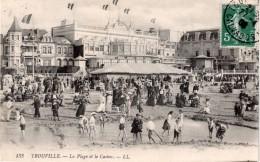 TROUVILLE : La Plage Et Le Casino . - Trouville
