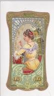 Chromo Art Nouveau LU Lefevre GAUFRETTE VANILLE Femme - Lu