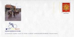 """PAP Sur Papier Ordinaire Avec  Timbre """"Armoiries - Lettre Prioritaire"""" Et Illust. """"Fédération Andorrane De Cyclisme"""" - Ciclismo"""