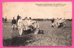 Grandes Manœuvres Du Centre - 1908 - Animée - Pièce En Position De Combat Attendant Les Ordres - ND PHOT - Manoeuvres