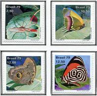 (cl. 36 - P.40) Bresil * N° 1374 à 1377 -  Papillons - Papillons