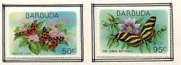 (cl. 36 - P.45) Barbuda * N° 408 - 410 -  Papillons - - Butterflies