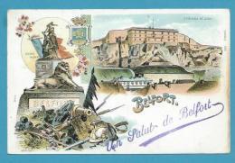 CPA LITHO - Multivues Gruss BELFORT 90 - Belfort - Ville