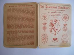"""Carte Publicitaire """"décorations Héraldiques Pour Voitures De Luxe & Automobiles"""" - Publicité"""