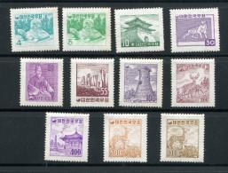Corée Du Sud ** N° 185 - 186 - 187 - 189 - 192 - 193 - 194 - 195 - 196 - 197  - Série Courante - Korea (Süd-)