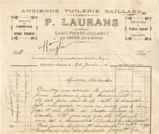 FACTURE LETTRE : SAINT PIERRE NOGARET -  ANCIENNE TUILERIE GAILLARD - P LAURANS - Other