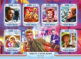 GUINEA BISSAU 2016 - David Bowie In Cinema. Official Issue - Cinema