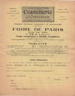 75 PARIS 1926  Revue COUTELLERIE De L' Orfèvrerie De Table FOIRE DE PARIS  - Y49 - 1900 – 1949