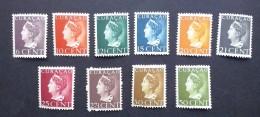 Curacao 1947, Koningin Wilhelmina - 10 Zegels Postfris - NVPH 168-177 - Curaçao, Nederlandse Antillen, Aruba