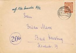 17748. Carta BERLIN - REINICKENDIRF (Zona Ocupation Anglo American) Alemania  1947 - Zona Anglo-Américan