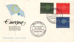 Duitsland - FDC 19-9-1960 - Europa/CEPT - Bonn 1 - M 337-339 - 1960