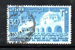 LYBIA LIBIA 1956 , Usato N. 71 . El Senussi - Libia