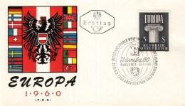 Oostenrijk - FDC 29-8-1960 - Europa/CEPT - Internationale Briefmarkenausstellung - Salzburg 1 - M 1081 - 1960
