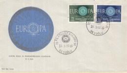 Turkije - FDC 19-9-1960 - Europa/CEPT - Filâtelist Kulübü - BeyoÄŸlu - M 1774-1775 - 1960