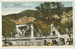 Queen Victoria's Monument And Garrison Library  ( GIBRALTAR ) Vers 1940 - Gibraltar