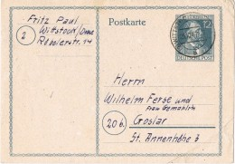 17757. Entero Postal WITTSTOCK (Alemania Ocupation) 1947. - Zona Anglo-Américan