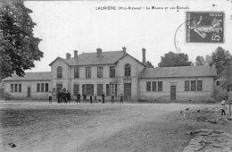 V3186 Cpa 87 Laurière - La Mairie Et Les Ecoles - Lauriere