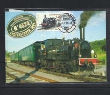 O) 2005 LUXEMBOURG, LOCOMOTIVE OF 1900, MAXIMUM CARD XF - Cartes Maximum