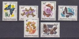Rwanda 1965 Butterflies 6v ** Mnh (29441) - Rwanda