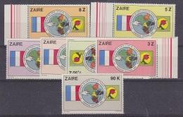 Zaire 1982 Conferentie Staatshoofden 7v ** Mnh (29442) - Zaïre