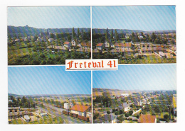 41 La Vallée Du Loir Vers Morée FRETEVAL En 4 Vues N°49 701 Panorama En 1977 Gare Train Wagons Silo - Moree