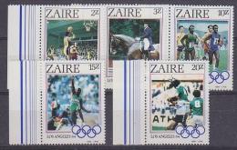 Zaire 1984 Olympic Games Los Angeles 5v ** Mnh (29443) - Zaïre