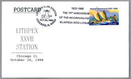 75th Anniv. INCORPORATION OF KLAIPEDA INTO LITHUANIA. Faro - Lighthouse. Chicago IL 1998 - Geschichte
