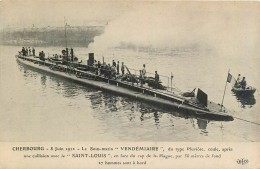 """CHERBOURG - Le Sous-Marin """" Vendémiaire """" Du Type Pluviose 8 Juin 1912  ..... - MANCHE - Cherbourg"""