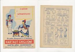 Publicité - Protege-Cahiers - HARTAUT-GHIGLIONE - Buvards, Protège-cahiers Illustrés
