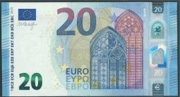 € 20  ITALIA SE S011 I2  DRAGHI  UNC - EURO