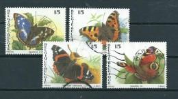 1993 Belgium Complete Set Vlinders,butterfly,papillon,schmetterlinge Used/gebruikt/oblitere - België