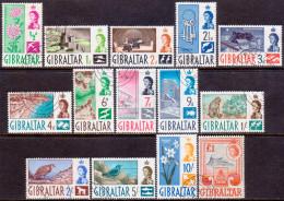 GIBRALTAR 1960 SG #160-73 Compl.set Used CV £60 - Gibilterra