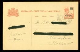 NEDERLANDS INDIE * HANDGESCHREVEN BRIEFKAART Uit 1929 Van POSTAGENT BATAVIA-ROTTERDAM Naar HAARLEM (10.445p) - Nederlands-Indië