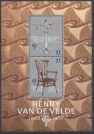 Belgien**JUGENDSTIL-BAUHAUS-VAN DE VELDE-BLOCK-2013-KERZENHALTER-CANDELABRA- - Belgium