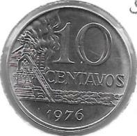 *brazil 10 Centavos 1976  Km 578.1a  Bu - Brésil