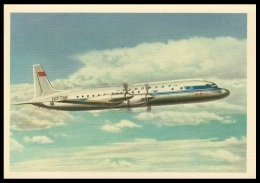 "RUSSIA POSTCARD Mint AIRPLANE ""IL-18"" PASSENGER ILYUSHIN AVIATION TURBOPROP AEROFLOT ARCTIC ANTARCTIC TRANSPORT POLAR - 1946-....: Modern Era"