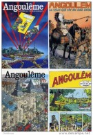 Blanc Dumont Darrow Druillet Forest De Moor Hislaire Norma - Serie 7 Cartes Postales Angouleme - Cartes Postales