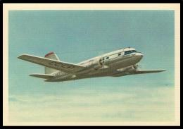 "RUSSIA POSTCARD Mint AIRPLANE ""IL-14"" PASSENGER ILYUSHIN AVIATION TURBOPROP AEROFLOT ARCTIC ANTARCTIC TRANSPORT POLAR - 1946-....: Modern Era"