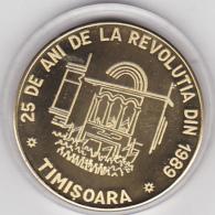 2014 MEDAL ANNIVERSARY ROMANIAN REVOLUTION,Gilded,RARE ROMANIA. - Roumanie