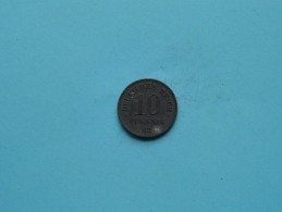 1921 - 10 Pfennig - KM 26 ( Uncleaned Coin / For Grade, Please See Photo ) !! - [ 3] 1918-1933 : República De Weimar