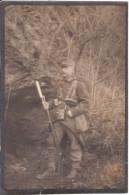 Foto Eines Uniformierten Soldaten Vom I. WK ( Klein Format ) - 1914-18