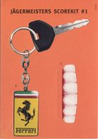 Go-Card Advertising Postcard, Jagermeisters Scorekit #1, Ferrari And White Teeth - Publicité