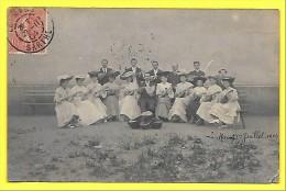 """LE MANS (72) ORCHESTRE Musique """" Choeur MANDOLINISTE """" 1904 ( Photographie ) Mandoline - Femmes - Chapeaux - - Photos"""