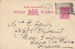 NZ- 25/11/1899 - Post Card 25/11/1898 Flag / Entier Postal De Nouvelle Zélande Avec Oblitération Drapeau - 1855-1907 Colonie Britannique
