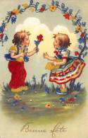 CPA Fantaisie - Illustrateur TRANTINO - Enfants - Fleurs - Autres Illustrateurs
