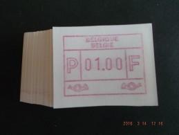 50 X Laag Punt. Roodpaars. Nieuwe Automaten. F/N C Papier. - Automatenmarken (ATM)